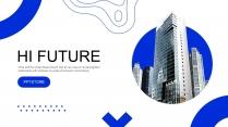 蓝色地产建筑企业宣传公司介绍PPT