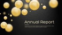 金色年终总结商务报告工作计划项目策划模板系列十四