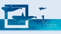 高颜值海洋蓝简约欧美风商务项目PPT模板示例4