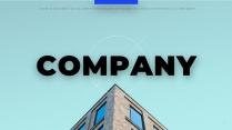 【正式】商务蓝高端企业介绍提案ppt模板02