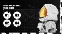 【太空】宇航员黑橙主题PPT工作模板示例3