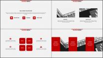 红色杂志风精致排版PPT模板示例6