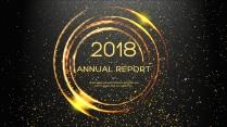 金色年终总结商务报告工作计划项目策划模板系列十九