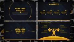 【动态】黑黄大气商务实用总结汇报述职融资通用模版