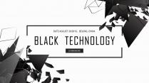 【未来世界】黑科技不规则科技IT公司工作总结PPT示例2