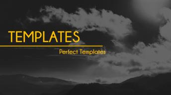 高雅黑黄简洁精致实用PPT模板