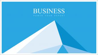 【轻盈·蓝】蓝色扁平商务通用模板