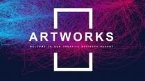 【抽象艺术】工作总结计划商务汇报通用模板