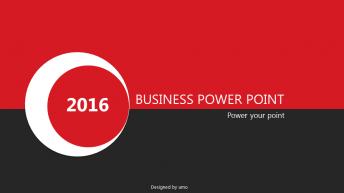 2015经典红黑商务实用模板