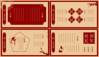 【民国记忆】简约创意复古风格汇报PPT模板示例4