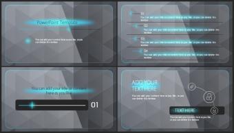【欧美风格】蓝黑高端创意实用商业模板示例7