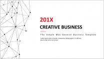 【创意点线-36】简约大气通用商务报告模板|红色