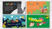 一个好玩的ppt——橡皮泥效果卡通教育模板示例7