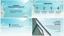 【丽日蓝天】极简高端大气蓝色商务报告年终汇报总结示例3