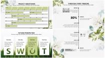 【翠绿】绿色小清新花卉简约高端大气极简通用商务总结示例7