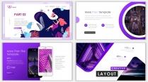 2018紫色漸變極簡時尚網頁風PPT模板02示例5