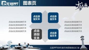 步步为赢蓝色大气商务PPT模板示例6