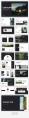 【极简风】简约自然黑杂志风PPT商务模板示例5