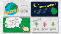 一个好玩的ppt——橡皮泥效果卡通教育模板示例4