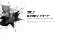 【几何艺术】清新简约商务通用报告模板-06 黑色