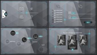 【欧美风格】蓝黑高端创意实用商业模板示例6