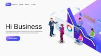【极致商务】2.5D市场销售营销活动商业工作PPT