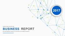 蓝绿点线创意科技互联网PPT模板