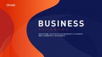 【经典商务】潮流蓝桔商务科技实用主义PPT模板6示例2
