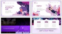 2018紫色漸變極簡時尚網頁風PPT模板02示例3