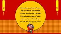 【喜庆复古】猪年红色喜庆年度汇报工作PPT模板示例5