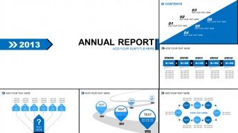 2013欧美风箭头商务汇报总结PPT模板+4种配色