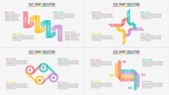 清新扁平多色可视化信息图表25套【第三期】