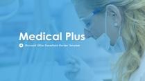 加勒比蓝~高端蓝色医疗商业模版
