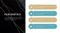 【简约商务】金色大理石多用途总结报告商务汇报模14示例3