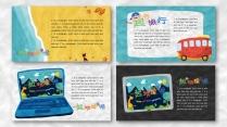 一个好玩的ppt——橡皮泥效果卡通教育模板示例6