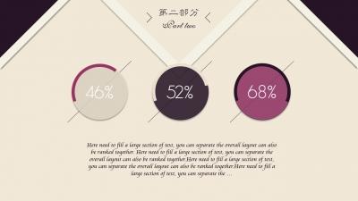 酱紫交互时尚风服饰类商务 模板ppt
