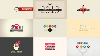 2014动态复古商务年终总结新年计划PPT模板9套