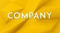 【立体】黄色立体抽象创意商务汇报总结PPT模板