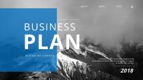 【簡約商務】藍色歐美年工作匯報雜志風PPT模板