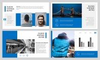 【简约商务】蓝色欧美年工作汇报杂志风PPT模板示例4