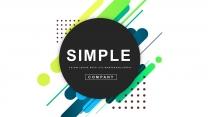 【创意几何】现代商务工作总结计划模板