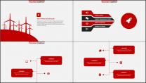 红色杂志风精致排版PPT模板示例7