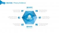 【几何多边形】简约实用学术研究&商业项目论文答辩示例5