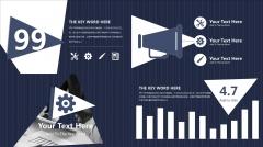 深蓝沉稳大气可视化总结汇报商务PPT模版示例4