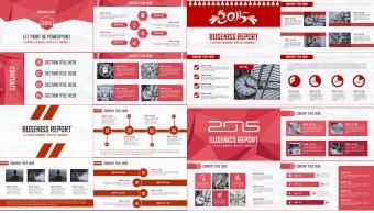2015红色大气跨年年终总结多用模板【合集四套2】