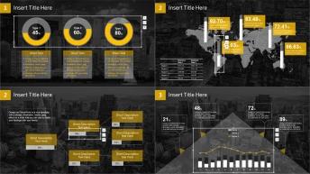 【动态】橙色透明商务数据报告模板示例7