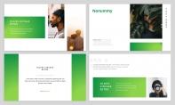 【极简风】绿色渐变杂志风PPT商务模板示例4