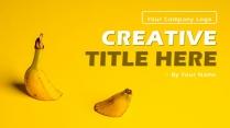 黄色创意欧美简约商务PPT模板