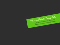 简约绿色抽象艺术通用PPT模板(2)