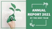 高颜值简约绿色养眼植物欧美外企项目汇报